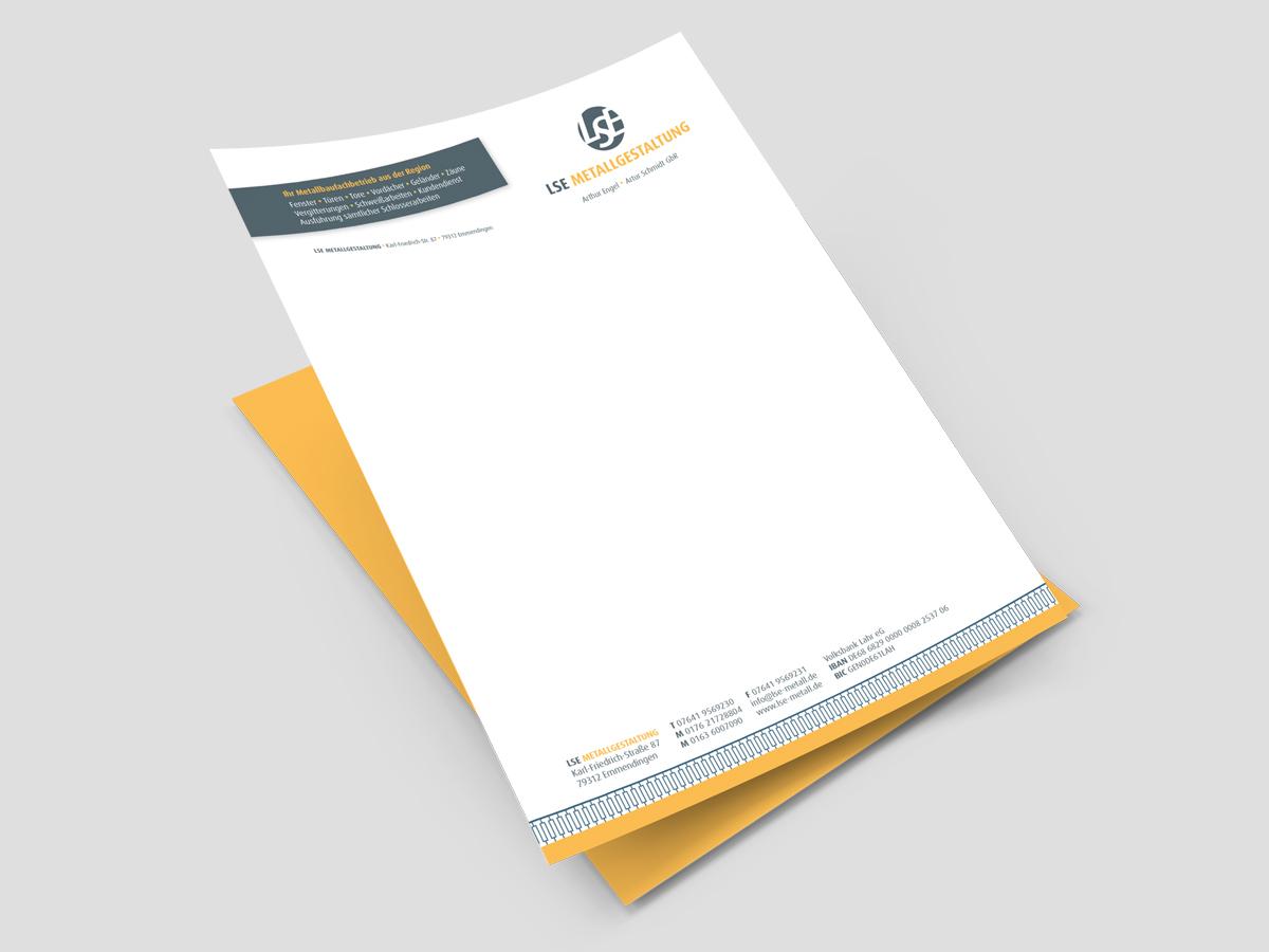 Briefbogen LSE Metallgestaltung