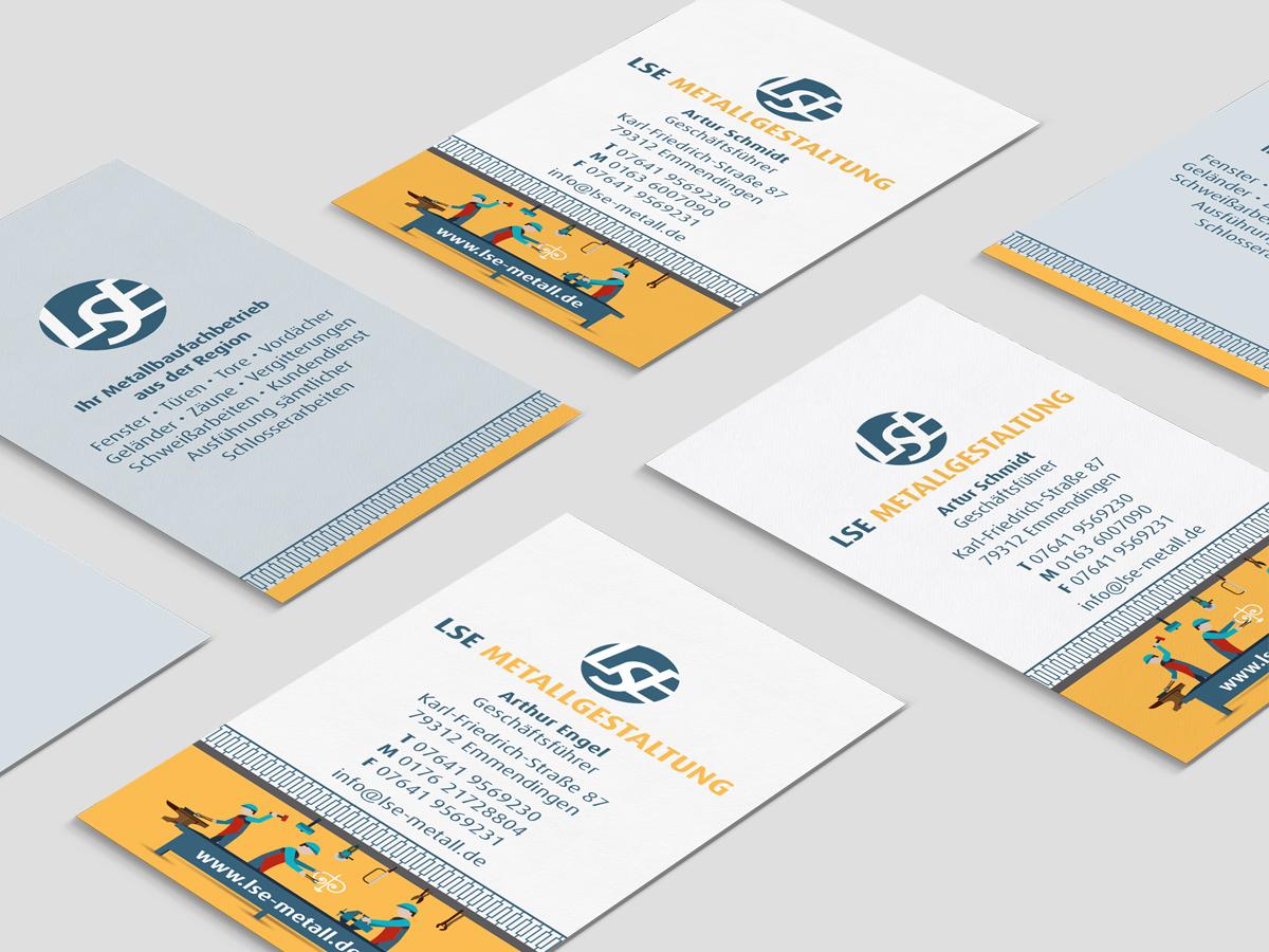 Visitenkarten LSE Metallgestaltung