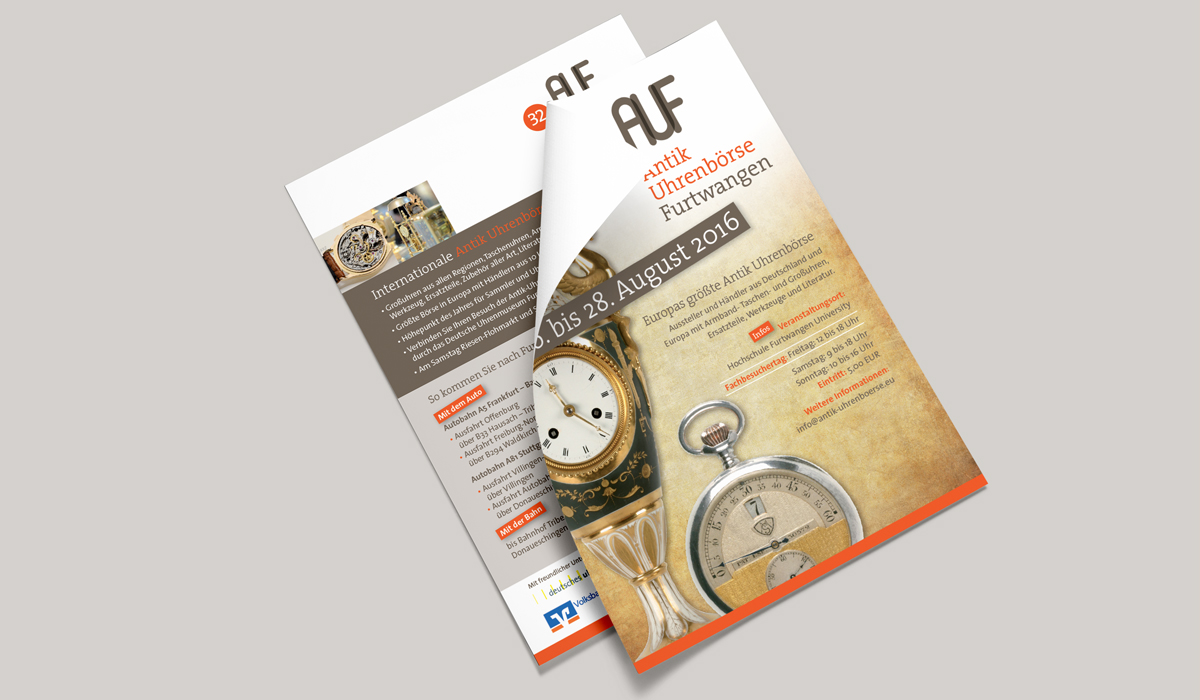 Flyer Antik Uhrenbörse Furtwangen