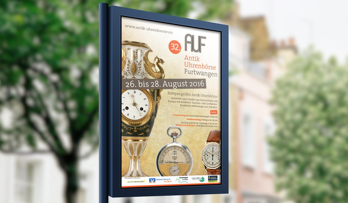 Plakat Antik Uhrenbörse Furtwangen