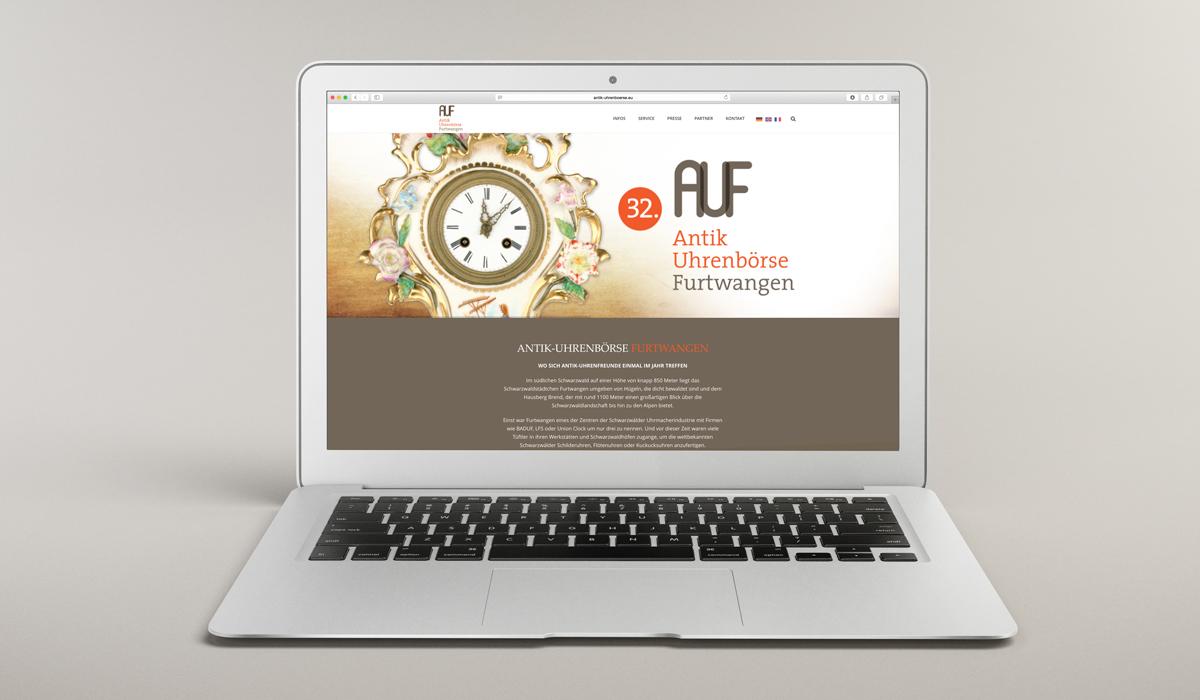 Website Antik Uhrenbörse Furtwangen